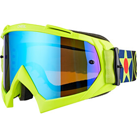O'Neal B-10 Goggles, warhawk neon yellow/black-radium blue